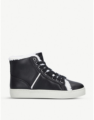Nine West Mellie faux-leather trainers