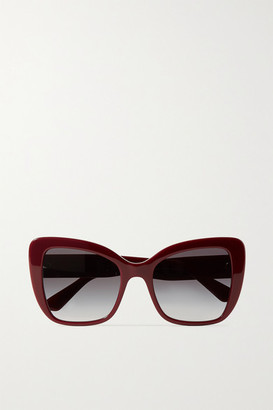 Dolce & Gabbana Oversized Cat-eye Acetate Sunglasses - Burgundy