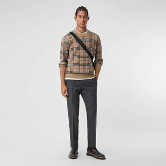 Burberry Prince of Wales Check Wool Chinos