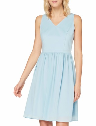 APART Fashion Women's Apart Damen Cocktailkleid aus Heavy Jersey und zartem Chiffon Cocktail Dress