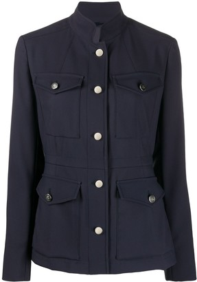 Fay Buttoned Fitted Jacket