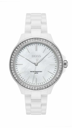 HUGO BOSS Womens Analogue Classic Quartz Watch with Ceramic Strap 1502454