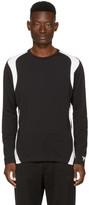 Y-3 Black & White Long Sleeve Three-Stripes T-Shirt