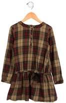 Bonpoint Girls' Long Sleeve Plaid Dress
