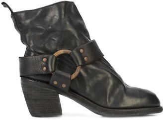 Guidi Brass Hardware Mid-Heel Boot