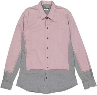 Dolce & Gabbana Burgundy Cotton Shirts