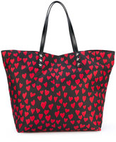 RED Valentino heart print shopping bag - women - Polyester - One Size