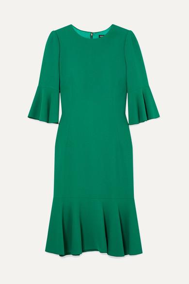 Dolce & Gabbana Ruffled Cady Dress - Green