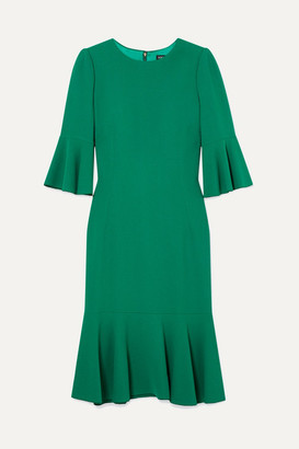 Dolce & Gabbana Ruffled Cady Dress - Green