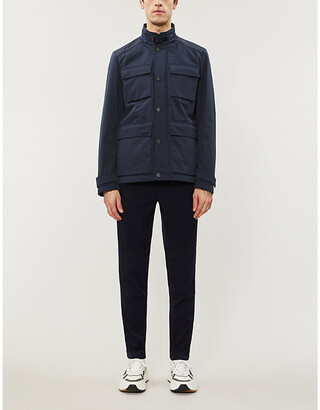 Ted Baker Reams funnel-neck relaxed-fit shell jacket
