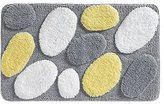 "InterDesign Pebblz Rug, 34 x 21"", Yellow/Gray"