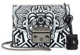 Furla Metropolis Graphic Leather & Chain Crossbody