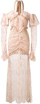 Alessandra Rich long-sleeve lace gown
