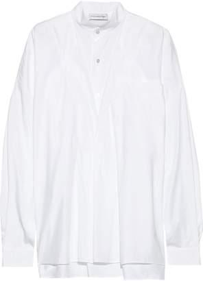 Faith Connexion Oversized Layered Cotton-poplin Shirt