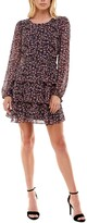 Thumbnail for your product : Trixxi Juniors' Floral-Print Tiered Fit & Flare Dress