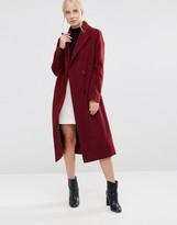 Helene Berman Double Breasted Coat in Burgundy