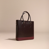 Burberry Panelled London Leather Tote Bag