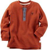 Carter's Knit Henley - Navy - 6