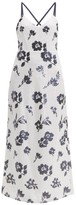 Self-Portrait Floral Sequinned Dress - Womens - Cream Navy