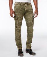 True Religion Men's Rocco Skinny- Fit Cargo Moto Jeans