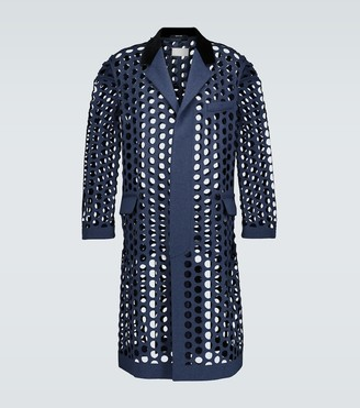 Maison Margiela Perforated wool-blend coat