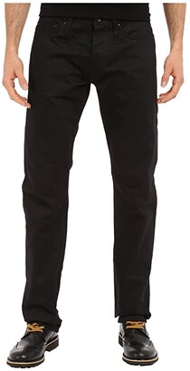 The Unbranded Brand Tapered in Black Selvedge Chino (Black Selvedge Chino) Men's Jeans