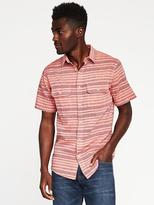 Old Navy Slim-Fit Linen-Blend Pocket Shirt For Men