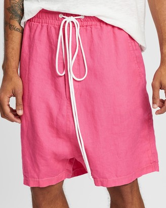Surrounded By Ghosts The Garnet Low Crotch Linen Drawstring Shorts