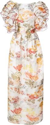 Rosie Assoulin floral print puff sleeve dress