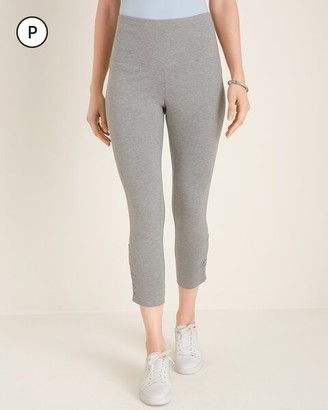 Zenergy So Slimming Petite Ruched Crop Leggings