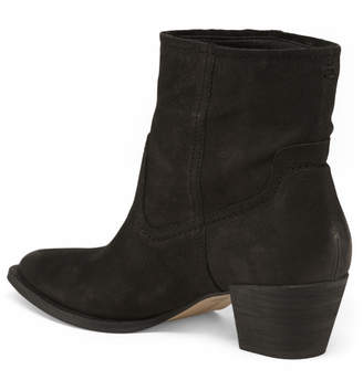 Pointy Toe Stacked Heel Suede Boots