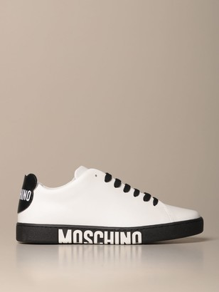 Moschino Sneakers In Leather With Teddy Logo