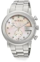 Gucci G-Chrono Diamond, Mother-Of-Pearl & Stainless Steel Watch