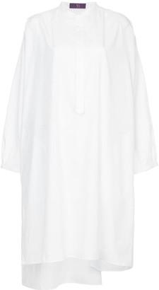 Y's Elongated Collarless Shirt