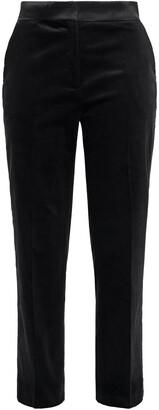 House Of Dagmar Cropped Cotton-blend Corduroy Straight-leg Pants
