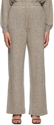 MAX MARA LEISURE Taupe Wool Acacia Lounge Pants