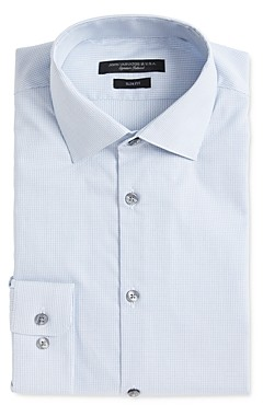 John Varvatos Soho Dobby Stripe Slim Fit Dress Shirt