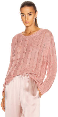 SABLYN Cassidy Long Sleeve Sweater in Cherry Blossom | FWRD