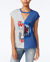 Hybrid Juniors' The Who Spliced Cutout T-Shirt