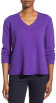Eileen Fisher Boxy Wool Blend V-Neck Pullover