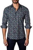 Jared Lang Micro Feather Print Shirt