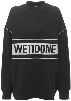 we11done Reflective Logo Sweatshirt