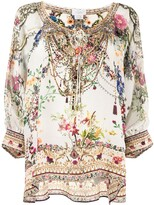 Thumbnail for your product : Camilla Floral-Print Long-Sleeve Blouse