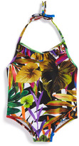 Milly Minis Minis Tropical Print Halter One-Piece Swimsuit (Toddler Girls)