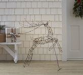 Pottery Barn Lit Wire Reindeer