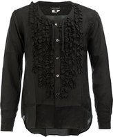 Comme des Garcons ruffled panel shirt - men - Cupro - L