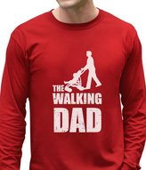 TeeStars Walking Dad Fathers Day Gift Comical Pram Funny Parody Long Sleeve T-Shirt