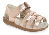 See Kai Run Toddler Girl's 'Fe' Metallic Leather Gladiator Sandal