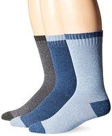 Lucky Brand Lucky Men's 3 Pack Marled Tip Toe Heel Casual Crew Socks