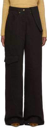 Jacquemus Navy and Black Le Jean De Nimes Jeans
